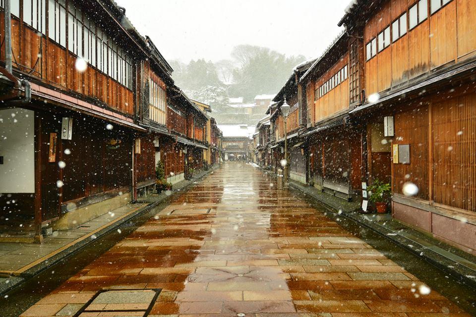 冬の金沢 東茶屋街