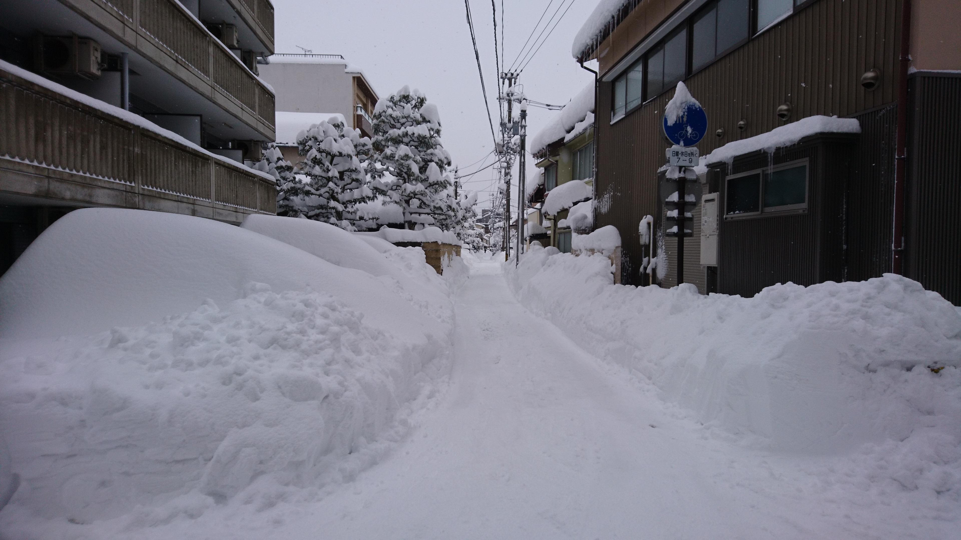金沢,雪,豪雪,長町,冬