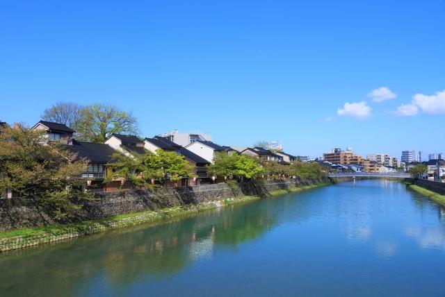 金沢,金沢市,浅野川,街並み